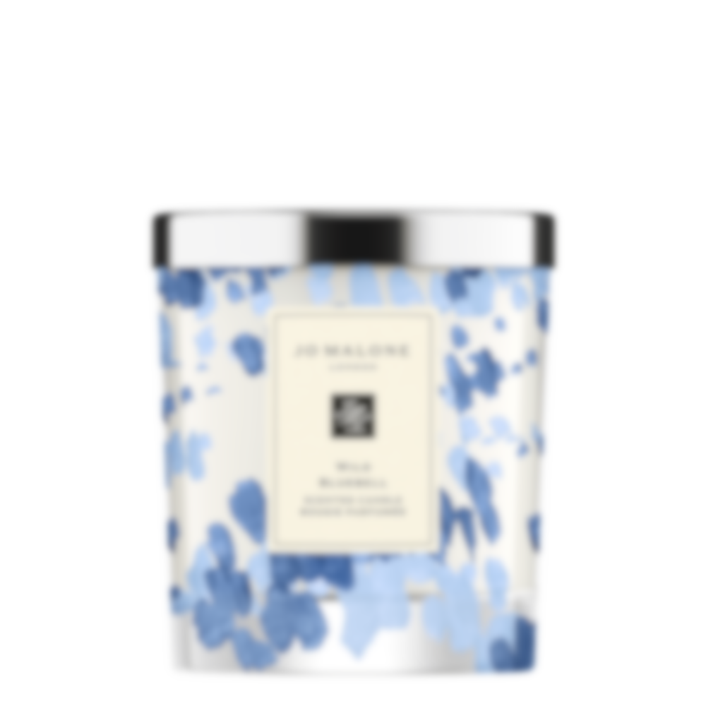 Wild Bluebell Decorated Home Candle